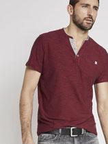 Henley T-Shirt Rood