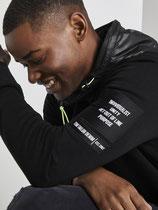 Hoodie Jacket met Nylon Details