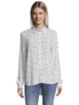 Overhemdblouse met bolletjes patroon