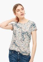 Shirt met florale print