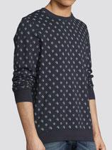 Printed Crew Neck Sweater (Blauw)
