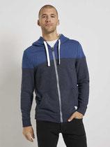 Sweatshirt hoodie met rits