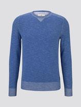 Gebreide trui met rib detail (lichtblauw)