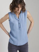 Mouwloze denim blouse