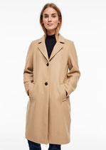Klassieke mantel met wollige look