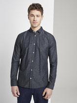 Getextureerd dobby overhemd