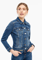 Denim Jacket met garment wash