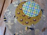 Bienenwachstücher rund, Biene