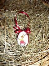 besticktes Osterei Hasenmädchen