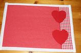 Tischset Herz