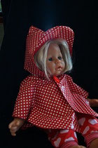 Puppen Regenmantel/Poncho