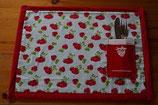 Tischset Erdbeere