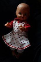 Puppenkleid Herzchen Bio