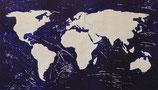 Mappamondo Bianco 68,5x38 cm