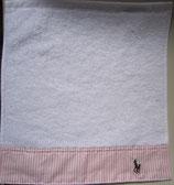 """Serviette-éponge Ralph Lauren pour salsera """"blanc / rose"""""""