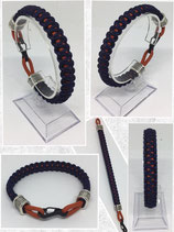 Paracord Armband - Mini Snaphook Solomon