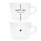 Tee Tasse happy oder heart