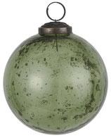 Kugel pebbled Glas moosgrün mittel
