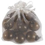 Sächli mit pebbled Glas Kügeli chocolate