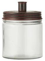 Kerzenhalterglas mit Vintage Metalldeckel