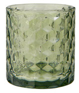 Teelichtglas grün