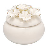 Jewelry box white flower