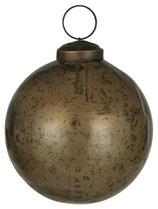 Weihnachtskugel pebbled glas chocolate mittel
