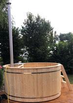 Badezuber 2,0m Durchmesser mit Ofen