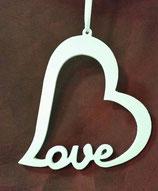Herz Love weiß