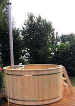 Badezuber 1,8m Durchmesser mit Ofen