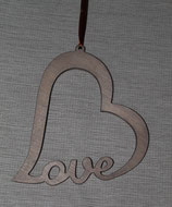 Herz Love gebeizt