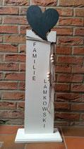 Schild mit Wunschgravur