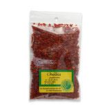 Chilis ohne Kerne - geschroten
