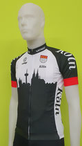 "Verge Sport Core Radtrikot ""Skyline von Köln""Black Edition Herren im Relaxed-Cut"