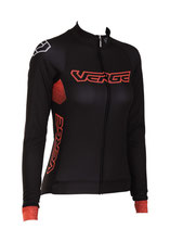 "Verge Sport Herren Defend Regen-Radtrikot ""Black Fighter"" langarm"