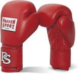 Wettkampfhandschuhe Paffen Sport ''Contest'' rot, auch mit DBV Prüfmarke erhältlich.