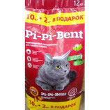 """Комкующийся. """"Pi-Pi-Bent"""" Сенсация свежести. 10 кг. + 2 кг."""