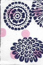 408 Blumen - pink neon Punkte - Postkarte aus Saatgutpapier
