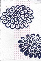 406 Blumen - pink neon Punkte - Postkarte aus Saatgutpapier