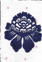 407 Blumen - pink neon Punkte - Postkarte aus Saatgutpapier