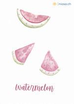 A22 -Wassermelone - Watermelon - Postkarte