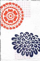 404 Blumen - pink neon Punkte - Postkarte aus Saatgutpapier