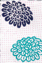 401 Blumen - pink neon Punkte - Postkarte aus Saatgutpapier