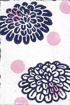 405 Blumen - pink neon Punkte - Postkarte aus Saatgutpapier