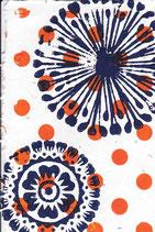 221 Blumen - orange Punkte  - Postkarte aus Saatgutpapier