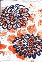 224 Blumen - orange Punkte - Postkarte aus Saatgutpapier