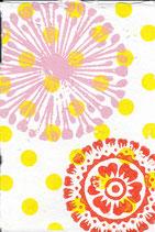 111 Blumen - gelbe Punkte  - Postkarte aus Saatgutpapier