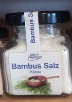 Bambus Salz, Natur Hurtig, 120 g, Glas