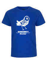 Schneebrett T-Shirt Rocker Bird blau Kids
