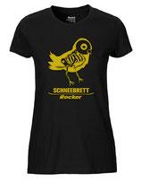 Schneebrett T-Shirt Rocker schwarz-gold Women